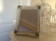 Shabby Chic Small Dressing Table mirror  Painted / Annie Sloan /White