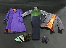 Custom 1/6 Scale Joker 2.0 Full Suit Set For Hot Toys Narrow Shoulder Body