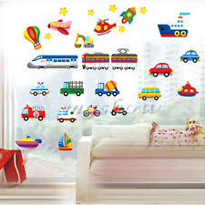 3D Cars Kids Removable Wall Sticker Home Decor Kids Baby Nursery Train Bus Truck