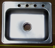 "Moen Stainless Steel  25"" Single Basin, 4 Hole,Kitchen Sink ***MADE IN USA***"