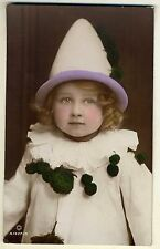 Clown Girl, Joan Daughter of 'Gladys Cooper', Old 'ROTARY' Photo Postcard