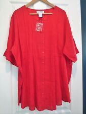 Women's 2 X Red Cotton Fabulous Tunic Top NEW! The Paragon