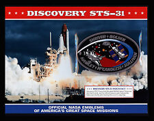 """WILLABEE & WARD """"DISCOVERY STS-31"""" OFFICIAL NASA SPACE EMBLEM PATCH & FACT SHEET"""