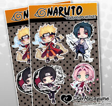 Naruto Anime Chibi Stickers Sheet
