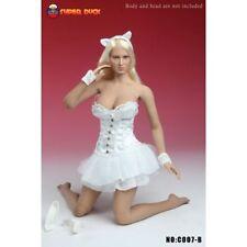 SUPER DUCK 1:6 WHITE CORSET DRESS & SHOE SET C007 B 1/6 LINGERIE OUTFIT DRESS