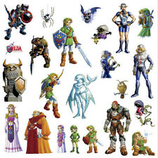 Princess ZELDA Ocarina of Time wall stickers 3D 23 decals room decor Link Sheik