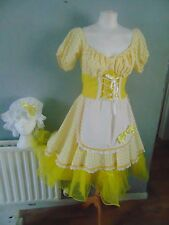 QUALITY THEATER  LITTLE BOW PEEP STYLE 3 PIECE OUTFIT DRESS & BONNET SIZE 12