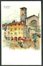 Como : illustrazione di Manuel Wielandt - cartolina non viaggiata, primi '900