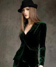 L Europe women's Skinny short jacket Slim Fit Gold velvet blazer Blouses coats