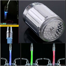 7 Colors LED Shower Lights Auto Changing Bright Light Water Bathroom Shower Head