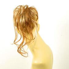 postiche chouchou peruk cheveux blond cuivré méché blond clair ref: 22 en f27613