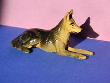 VINTAGE 1945-55 TIMPO TOYS HOLLOW CAST PAINTED LEAD MY PETS ALSATIAN LYING DOWN