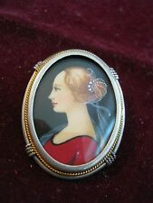 Continental 800 Silver HAND PAINTED M'LADY PORTRAIT see Joan Holloway MAD MEN!