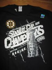 Reebok 2011 BOSTON BRUINS Stanley Cup Champions (XL) T-Shirt w/ Roster Hologram