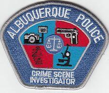 ALBUQUERQUE POLICE CSI CRIME SCENE INVESTIGATOR (SIL/BLU) PATCH NEW MEXICO NM
