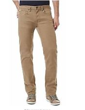 NWT Buffalo David Bitton Men's Sam-X Slim Straight Leg Stretch Jeans Beige 40X30