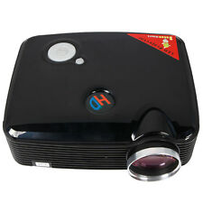 Home Cinema 2500 Lumens black Multimedia HD LED Projector 1080P HDMI USB TV DVDt
