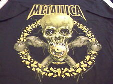 Metallica Shirt L No Leaf Clover Org Vtg Concert Tour Pushead TESTAMENT Metal