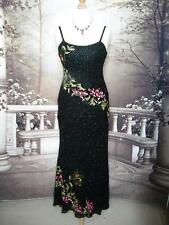 Dress/Ballgown 14 Silk Chiffon Evening Cocktail Party Beads Sequin Black Formal