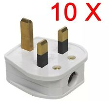 10 X 3 PIN PLUG UK 13A AMP FUSE POWER SOCKET ADAPTER HOUSEHOLD APPLIANCE MAINS