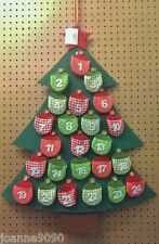 GISELA GRAHAM FABRIC FELT CHRISTMAS TREE ADVENT CALENDAR HOME KIDS DECORATION
