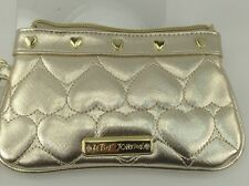 Women's Betsy Johnson HEART OF GOLD Wristlet - $58 MSRP - 50% off