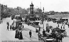 Clock Tower Promenade Morecambe old pc used 1917