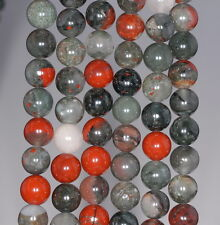 8MM BLOOD STONE GEMSTONE GRADE AA  ROUND 8MM LOOSE BEADS 7.5""