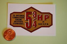 Briggs & Stratton 5 3/4hp banner decal late 50's