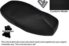 BLACK STITCH CUSTOM FITS PIAGGIO VESPA 125 200 GT 1 DUAL LEATHER SEAT COVER
