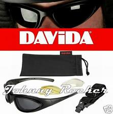 Davida WRS74 Motorcycle Goggles & Sunglasses with interchangeable lenses & strap