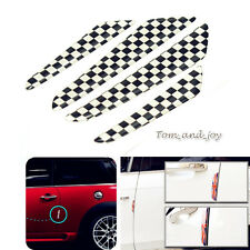 4pcs Checkered Exterior Side Door Edge Protection Sticker Cover for Mini Cooper