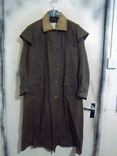 BACKHOUSE BARBOUR Stockman piena lunghezza Riding Cerato Cappotto Giacca Taglia c38 97cm