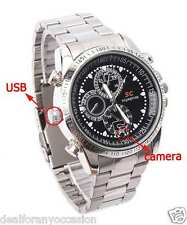 4GB Video Voice Hidden Spy Camera Wirst Watch Steel Strap Recorder Cam