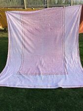VINTAGE PEACH AND PINK CHENILLE BEDSPREAD