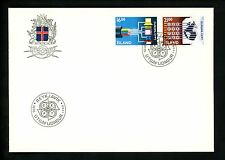 Postal History FDC #660-661 Iceland 1988 Europa computer code, data, fax machine