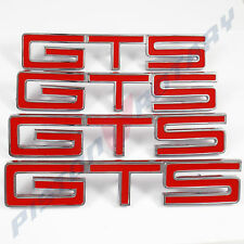 GTS Guards Boot Bonnet BADGES x4 RED ,NEW for HOLDEN HK MONARO fender hood trunk