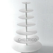 7 Tier White  Maypole Acrylic Cupcake Stand Cup Cake Tower Tree