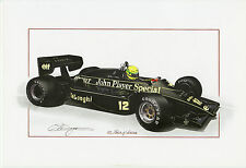 Ayrton Senna Lotus 97T John Player 1985 Portuguese GP ? Large Greet Card Dugan