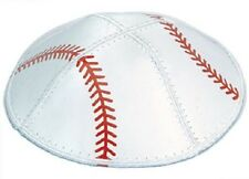 BASEBALL EXCLUSIVE KIPPAH KIPPOT YARMULKA YARMULKE RED AND WHITE