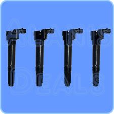 New Premium High Performance Ignition Coil Set (4) For Fiat 500 2012-2016