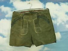 klasse Eichenlaub auf den Taschen klassisch bayrisch kurze Lederhose LH235 Gr.50