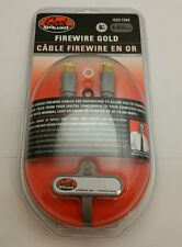 NEW Geek Squad Firewire Gold Data Transfer Cable 6 pin Male to 6 pin Male 6FT PI
