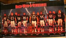 """Vintage 1987 Chicago Bears Back With A Vengeance Poster 36 x 20"""" Dent Hampton"""