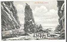 Needle Rock, Jersey, PPC, Meirelbeke PMK 1903 to Vilvoorde with received cancel