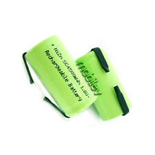 5 pc 4500mWh Sub C 1.6V Volt NiZn Rechargeable Battery Cell Pack w/ Tab Green