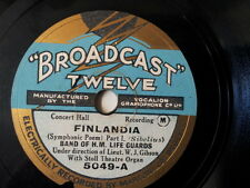"78 rpm 10"" BAND OF H M LIFE GUARDS Finlandia / Finlandi"
