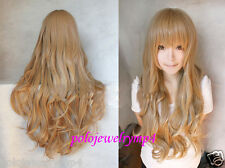 New wig Cosplay Dragon X Tiger/ Aisaka Taiga Long Pale Golden Brown Curly Wig