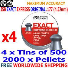JSB EXACT EXPRESS ORIGINAL .177 4.52mm Airgun Pellets 4(tins)x500pcs
