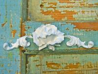Shabby n Chic Rose Center * Furniture Appliques @ FREE SHIPPING